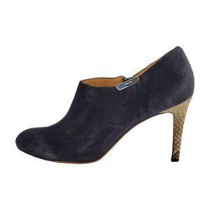 Coach Women's Seneca Suede Snake Heel Leather Boot